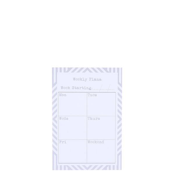 Weekly planning sticky notes