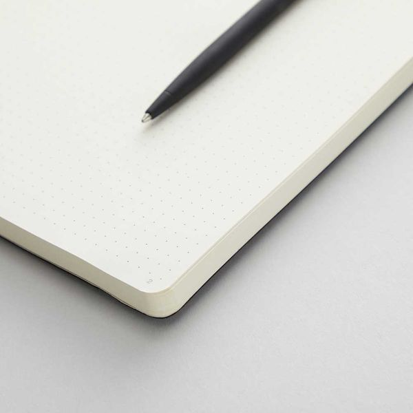 Agenzio soft black dot large notebook