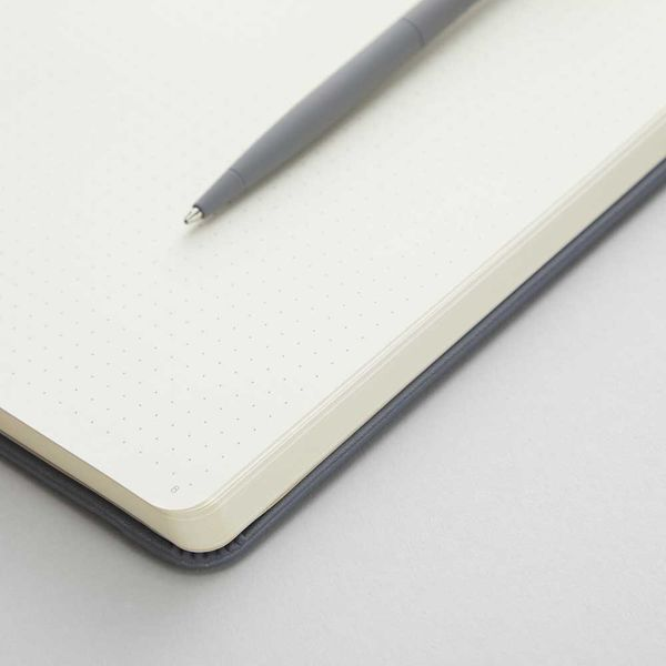 Agenzio Small Dotted Notebook - Grey