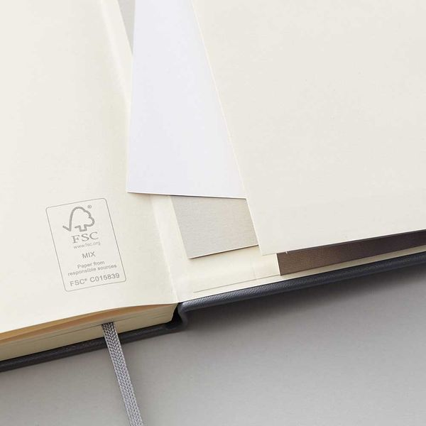 Agenzio Large Dotted Notebook - Grey