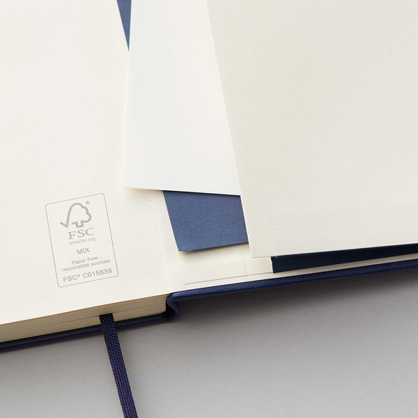 Agenzio Large Lined Notebook - Midnight Blue