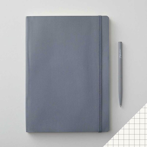 Agenzio soft granite grid large notebook