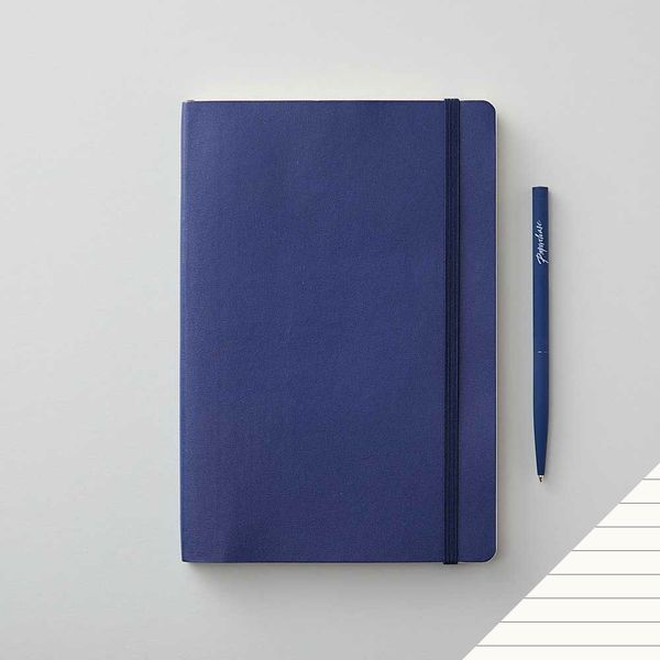 Agenzio soft midnight blue ruled medium notebook