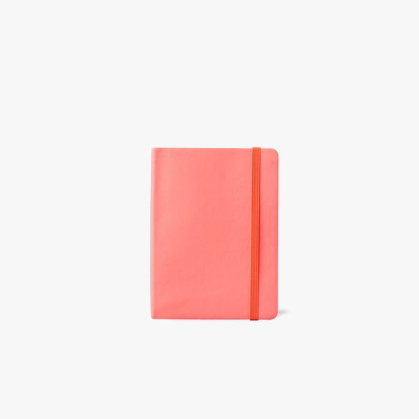 Agenzio Small Lined Notebook - Punch Pink