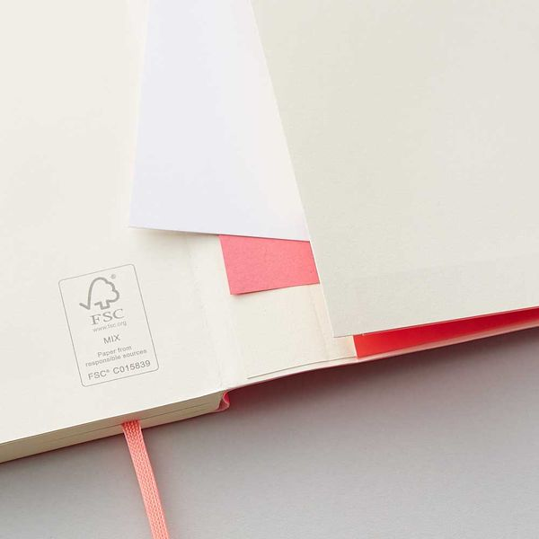 Agenzio soft punch pink ruled large notebook