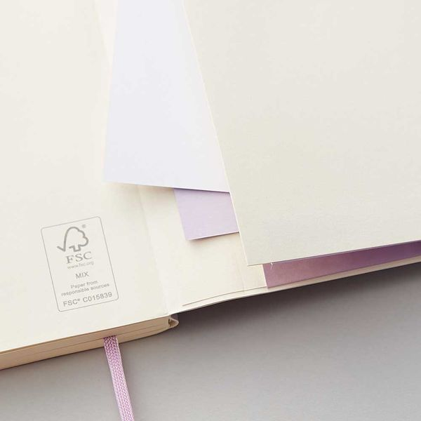 Agenzio Large Lined Notebook - Soft Lavender