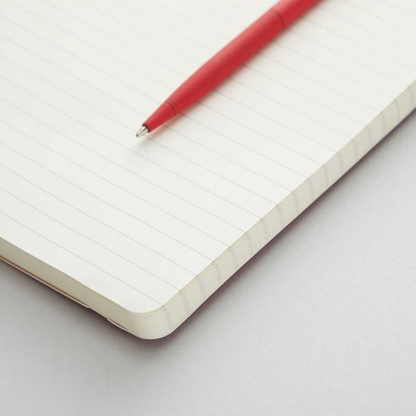 Agenzio soft red ruled small notebook