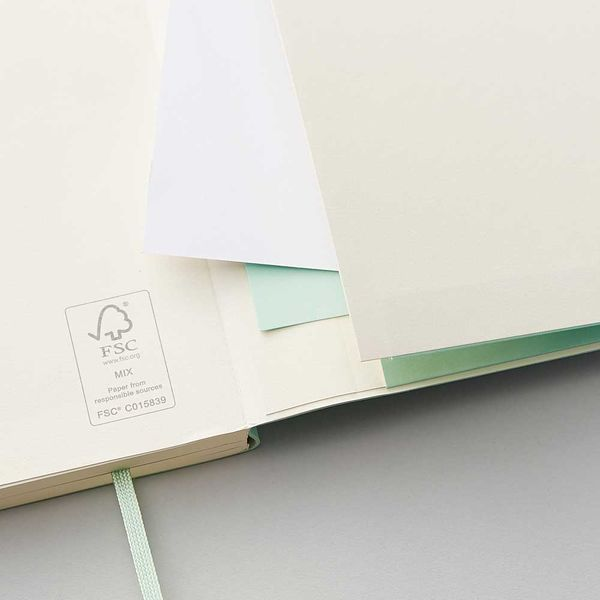Agenzio soft seafoam dot medium notebook