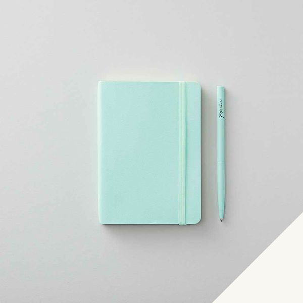 Agenzio soft seafoam plain small notebook