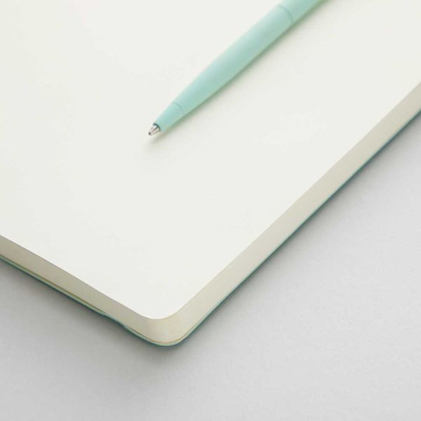 Agenzio soft sea foam plain large notebook