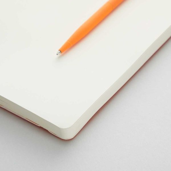Agenzio soft atomic orange plain large notebook
