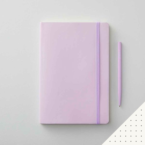 Agenzio soft lavender dot medium notebook