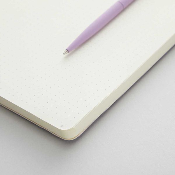 Agenzio Large Dotted Notebook - Soft Lavender