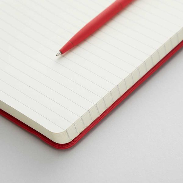 Agenzio Small Lined Notebook - Red