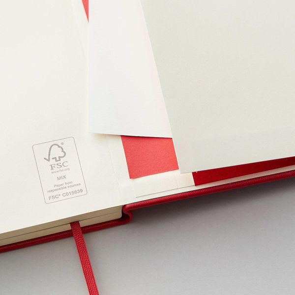 Agenzio hard red ruled small notebook