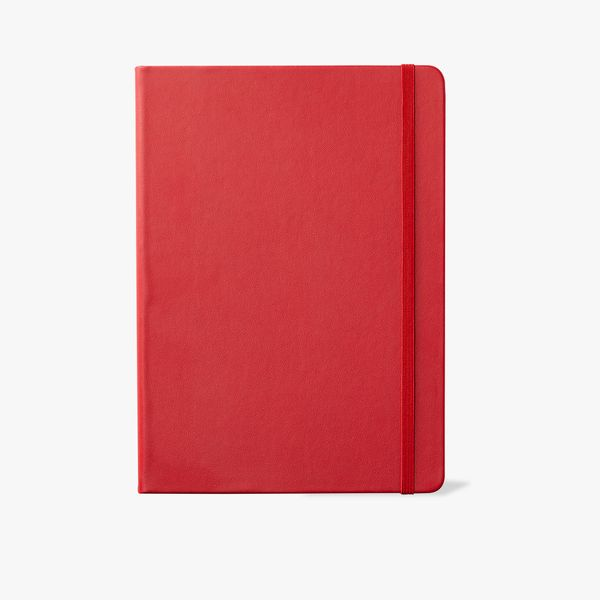 Agenzio Large Lined Notebook - Red