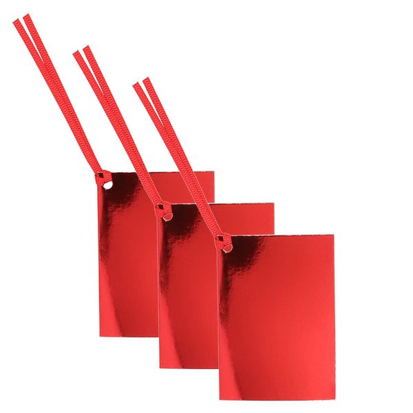 Folded red foil gift tags - pack of 10