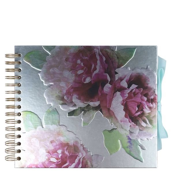Medium metallic floral scrapbook