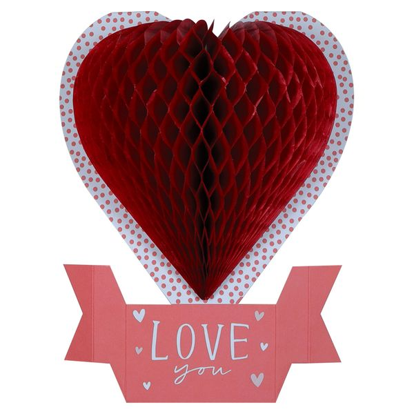 Pop-out love heart Valentine's Day card