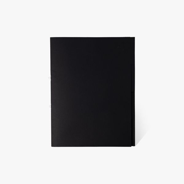 A4 Black Kraft Wallet with Dividers