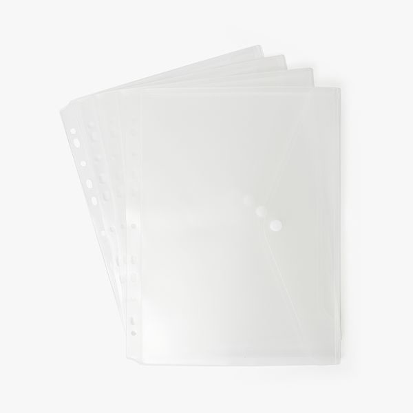 Frosted A4 pop binder - set of 4