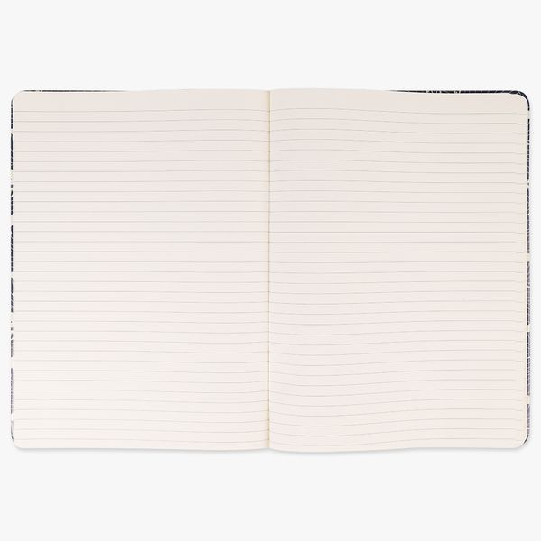 Agenzio Large Lined Notebook - Navy Waves