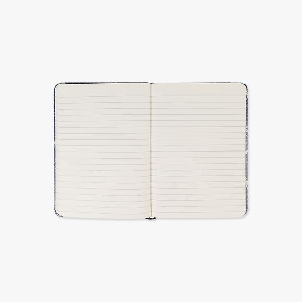 Agenzio Small Lined Notebook - Navy Waves