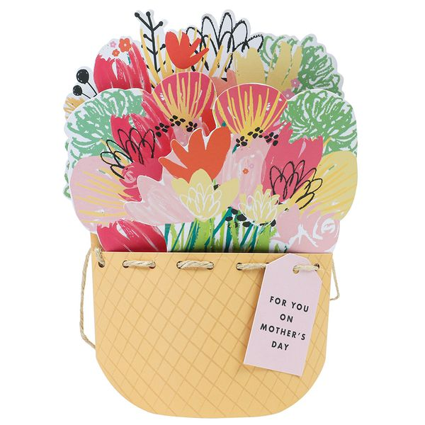 Pop out 3D bouquet Mother's Day card