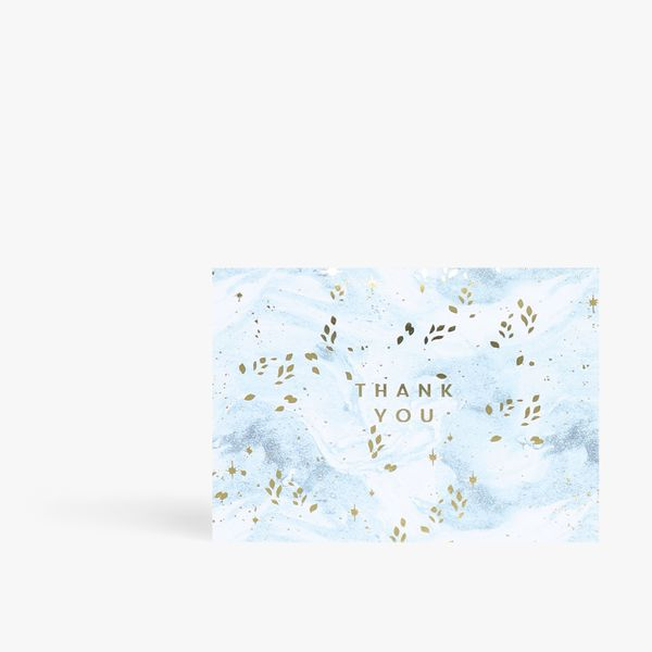 Marble thank you card