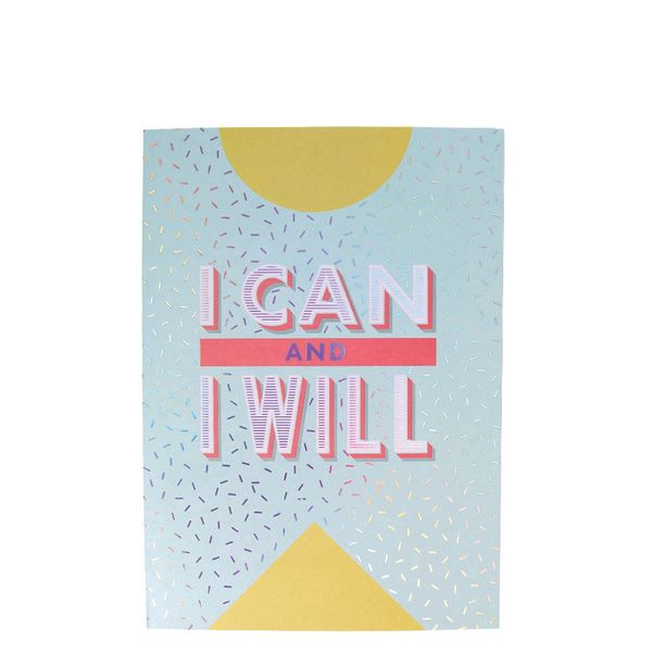 I can and I will motivational journal