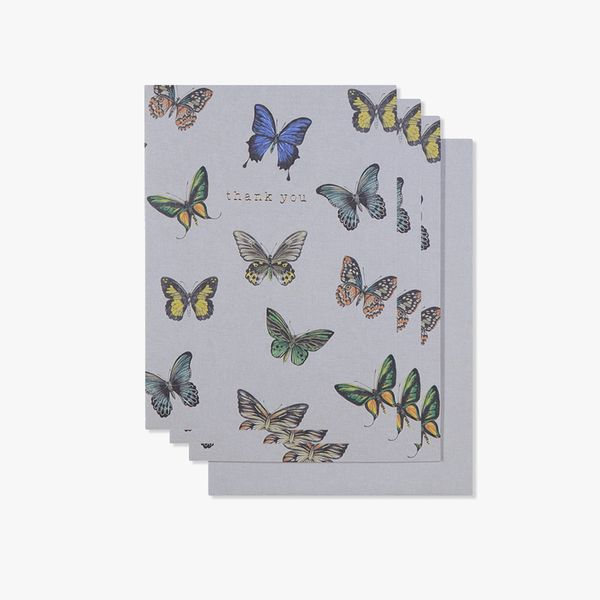 Butterflies thank you cards - pack of 10