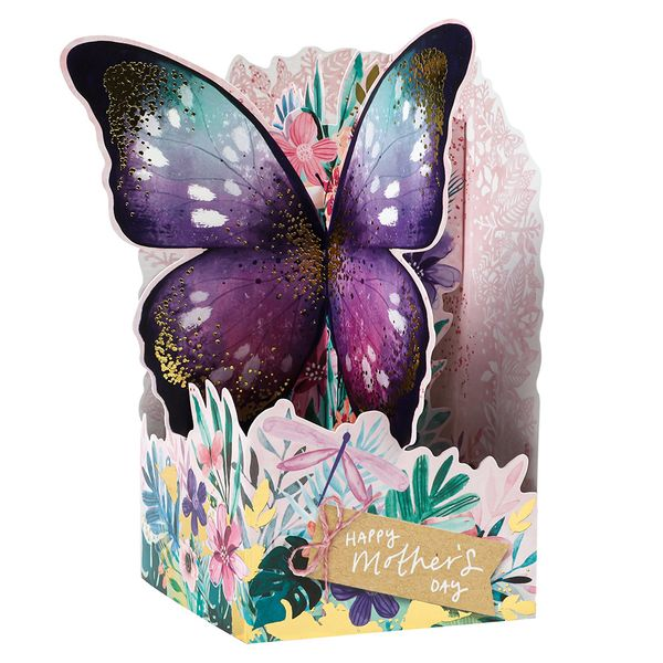 Pop up butterfly Mother's Day card