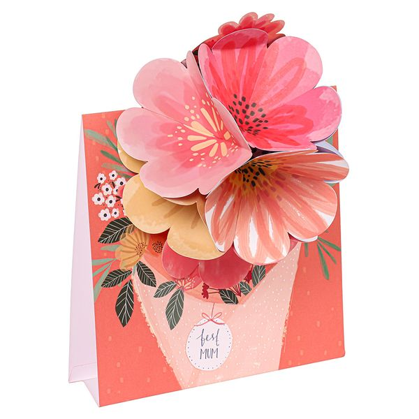 Pop out bouquet Mother's Day card