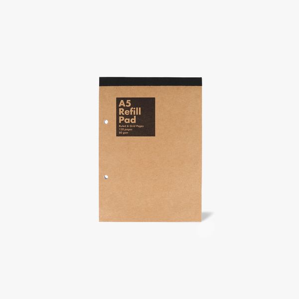 A5 Kraft Refill Pad - Lined & Grid Pages