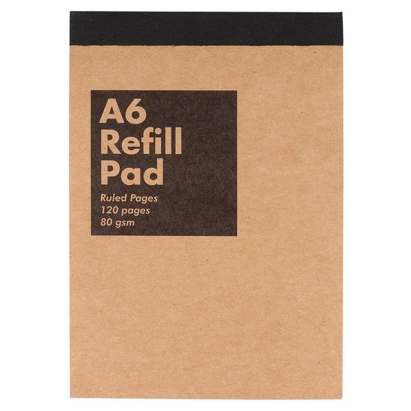 Kraft A6 refill pad - ruled pages