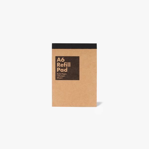 A6 Kraft Refill Pad - Lined Pages