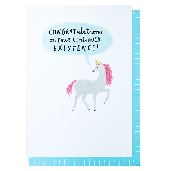 Continued existence birthday card
