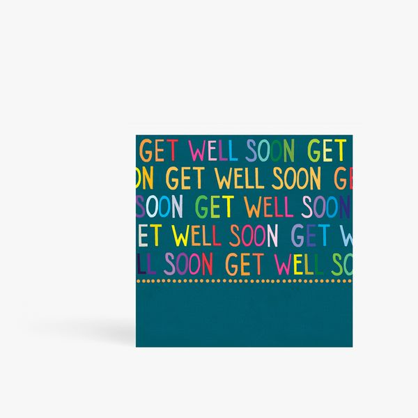 Colourful get well soon card