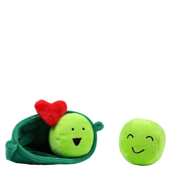 Peas in a pod plush soft toy