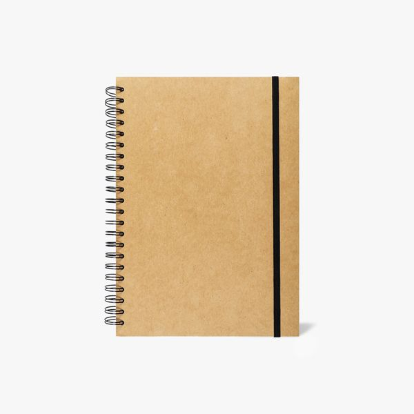 A4 Kraft ruled notebook with dividers