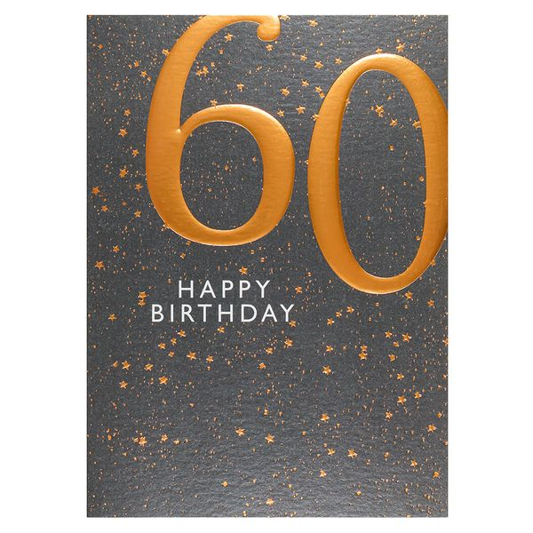 Copper embossed 60th birthday card
