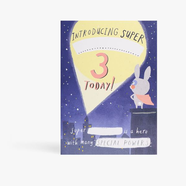 Personalised story book 3rd birthday card