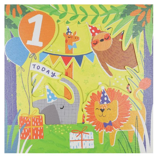 Party animals pull out 1st birthday card