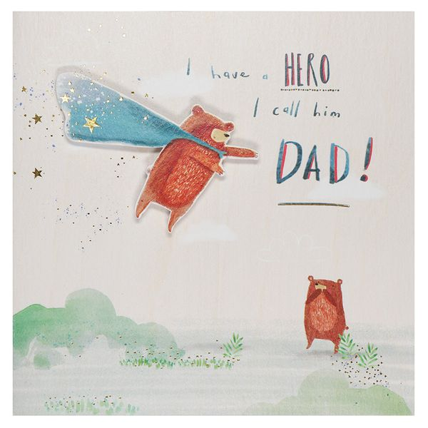 Hero called Dad Father's day card