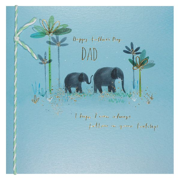 Follow your footsteps Father's day card
