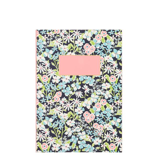 A5 ditsy floral plain notebook