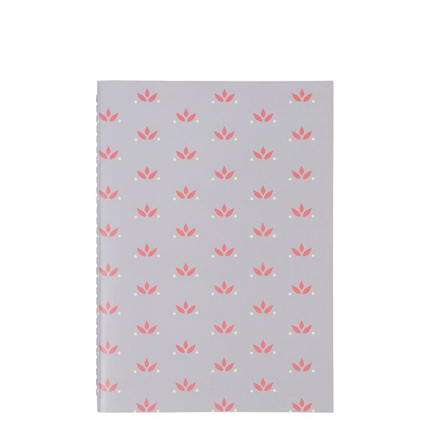 A5 grey floral notebook