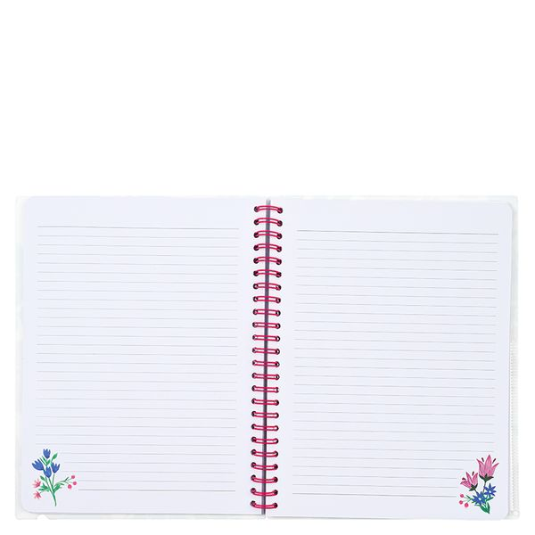 A5 spring floral ruled notebook