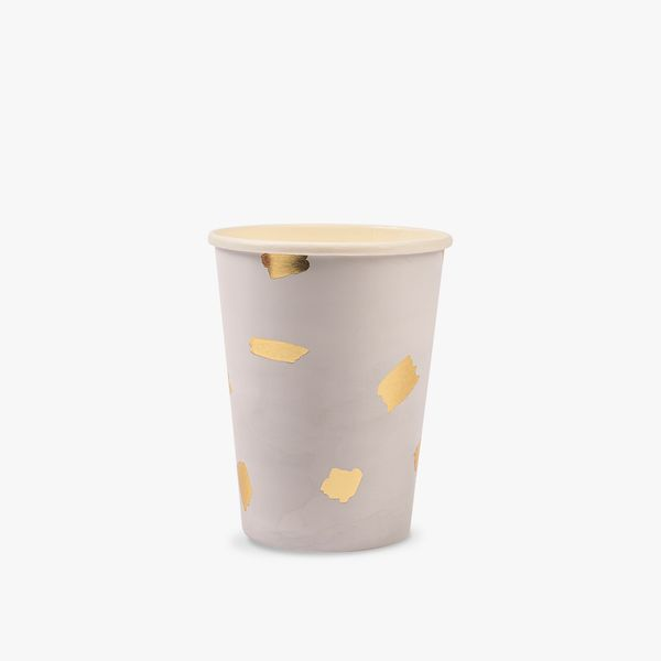 Ginger Ray for Paperchase gold brush paper cups