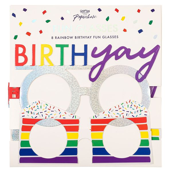 Ginger Ray for Paperchase birthday glasses - pack of 8